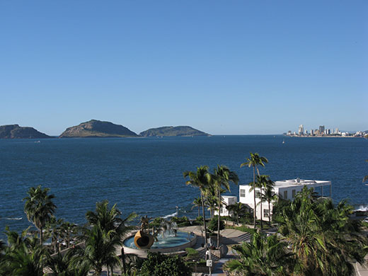 View from edge of Mazatlán's historic center…. prices haven't kept up with the times