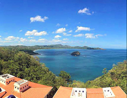 Flamingo Towers is high above the Costa Rican waters, but there's no shortage of view