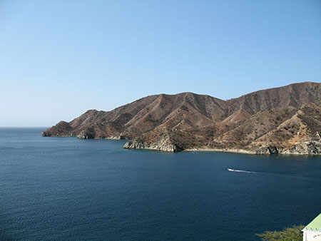 Taganga's pristine bay is good for swimming, boating, diving, and snorkeling