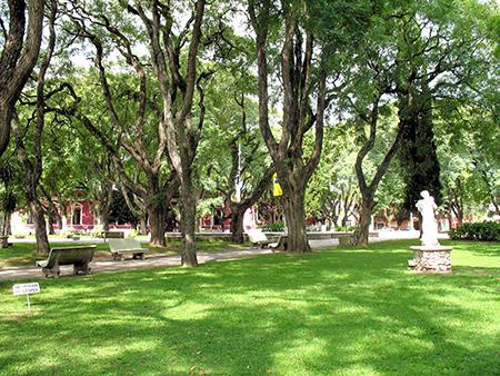 Town plaza in Uruguay