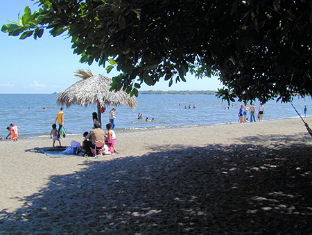 Granada's lakefront is a great place to cool off on a hot day