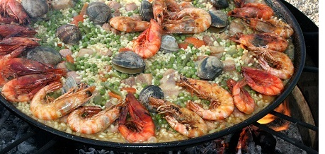 Paella, one of Spain's best-known dishes, originated in Valencia
