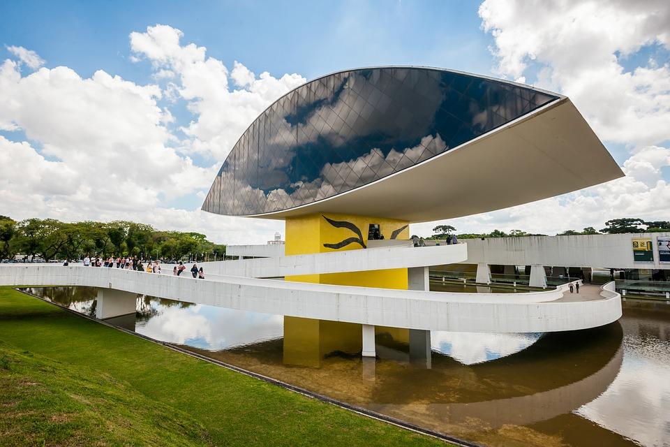 The futuristic Oscar Niemeyer Museum in Curitiba