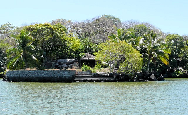 Jeff's island seen from the water
