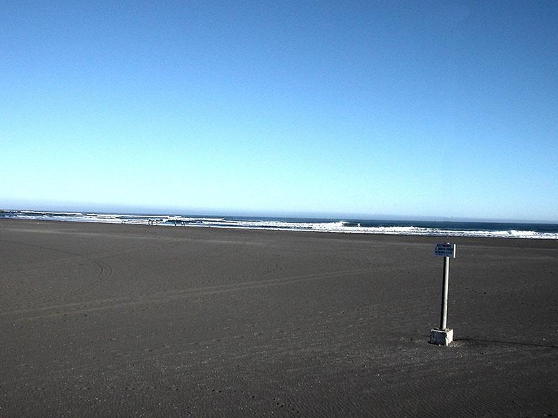 Sand beaches at Pichilemú