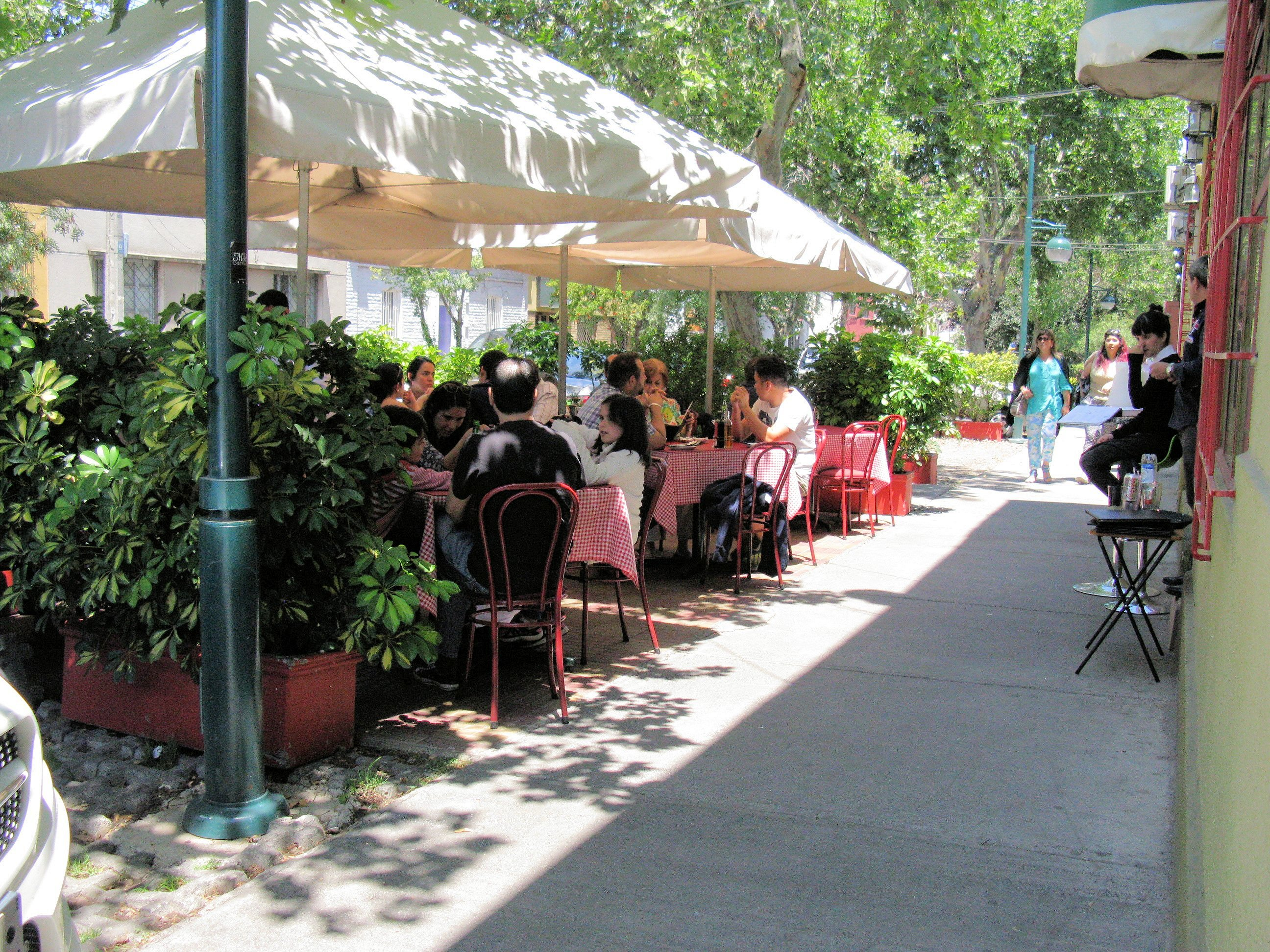 Barrio Italia is known for shaded streets,  sidewalk cafes, fine dining, and courtyard homes