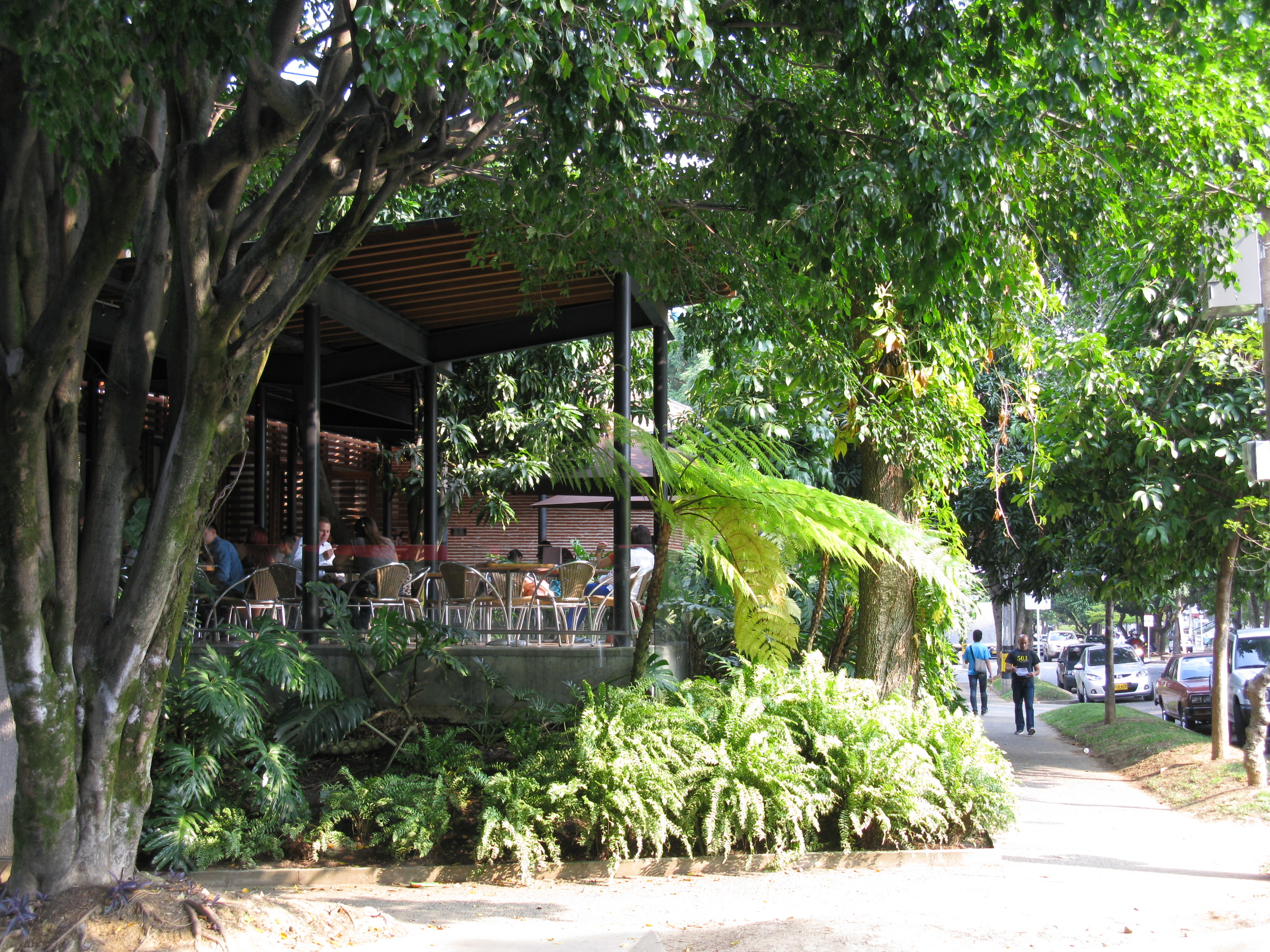 Laureles cafes are visited by people throughout  Medellin