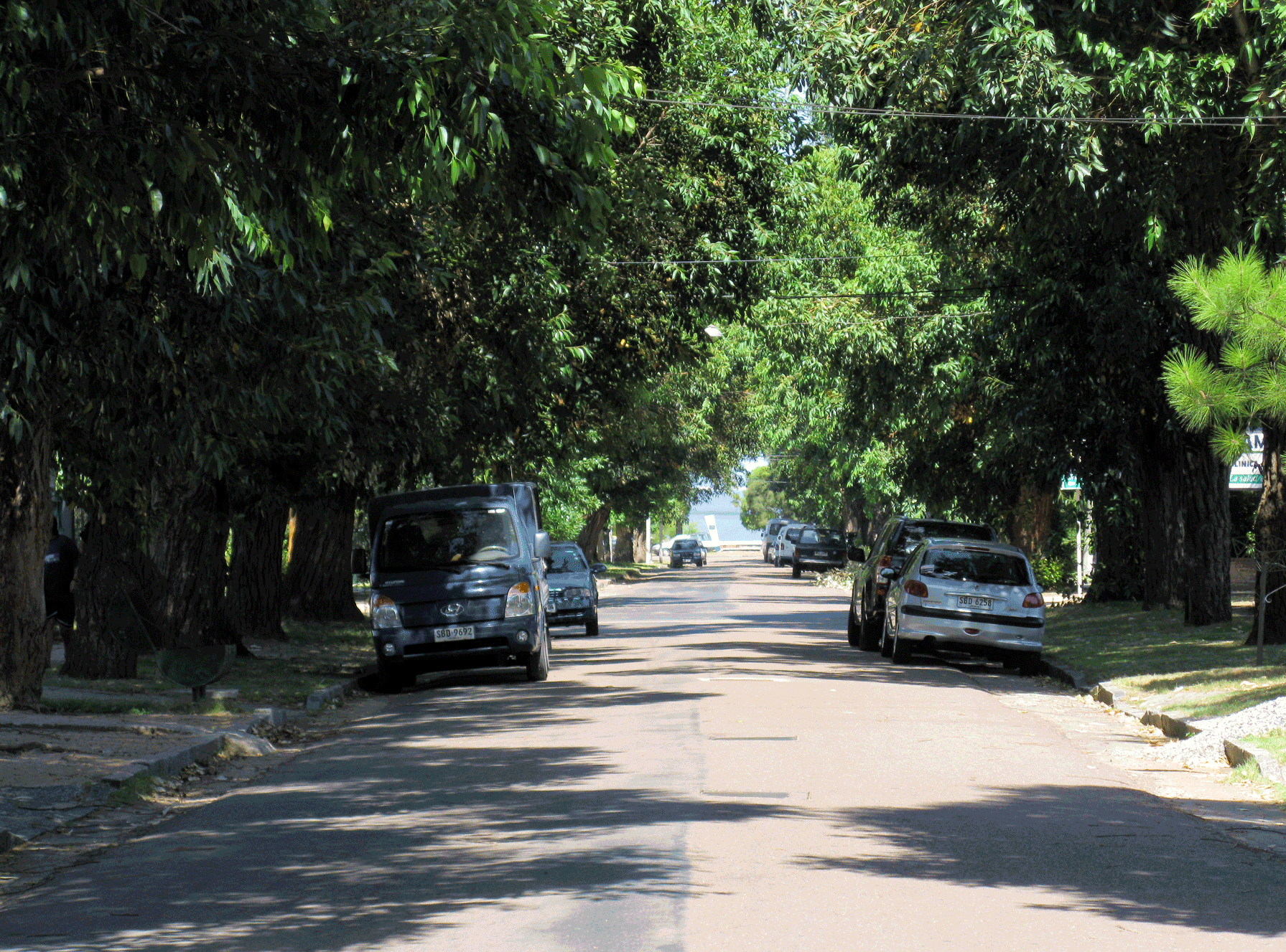 Clean, tree-lined streets lead right to the water's edge