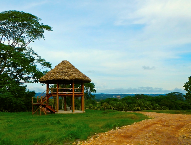 The lookout in the community park at Maya Springs offers views for miles around