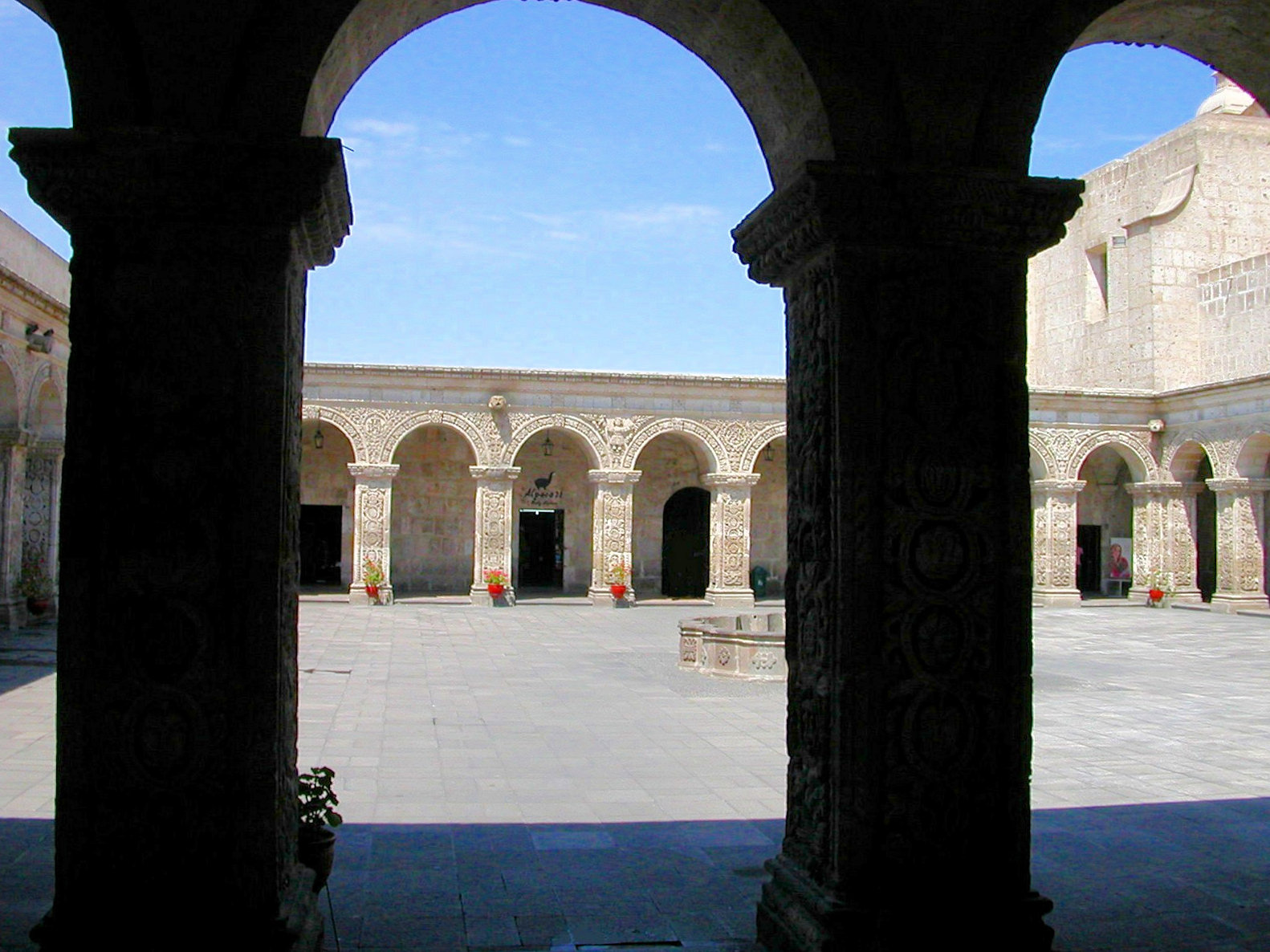 One of many large colonial properties in Arequipa's historic center