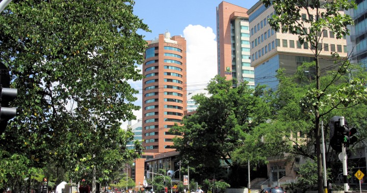 El Poblado is Medellín's high-end option, at US$1,120 per square meters at today's exchange rates