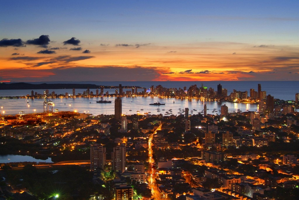Atardecer en Cartagena de Indias desde La Popa.
