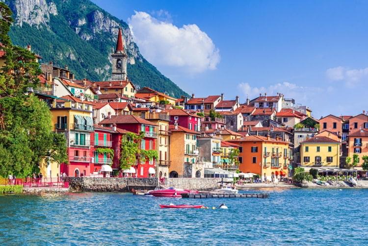 View of the most beautiful lake in Italy, Lago di Como