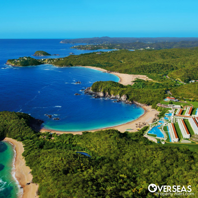 Aerial View on Huatulco, Mexico.