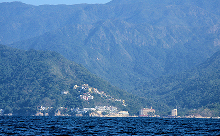 A view of Mismaloya taken from the water