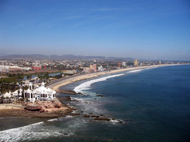 view along the beach mazatlan