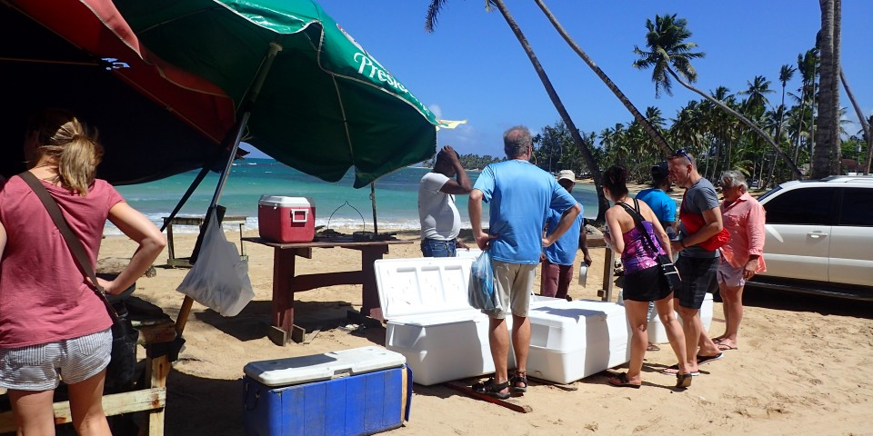 Right on the beach, the freshest fish you'll find