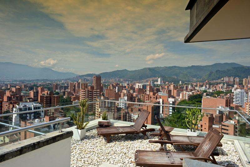 Rooftop of the Inntu Hotel in Laureles, Medellin