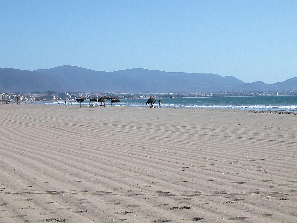 The very wide beach of La Serena Chile