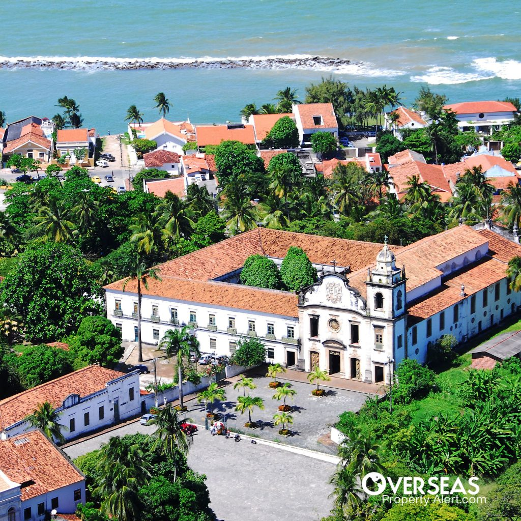 Colonial Style Buildings in the Coastal City of Olinda Brazil