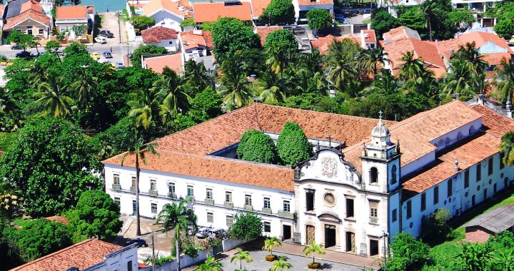 Coloonial Style Buildings in the Coastal City of Olinda Brazil