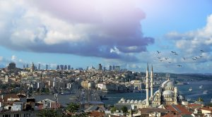 A mixed cloudy day in Istanbul, Turkey