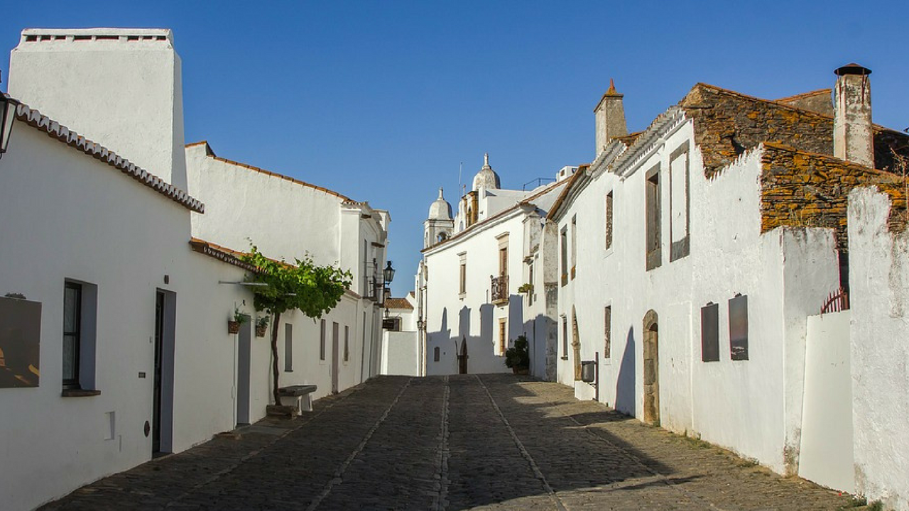 Whitewashed houses in Portugal