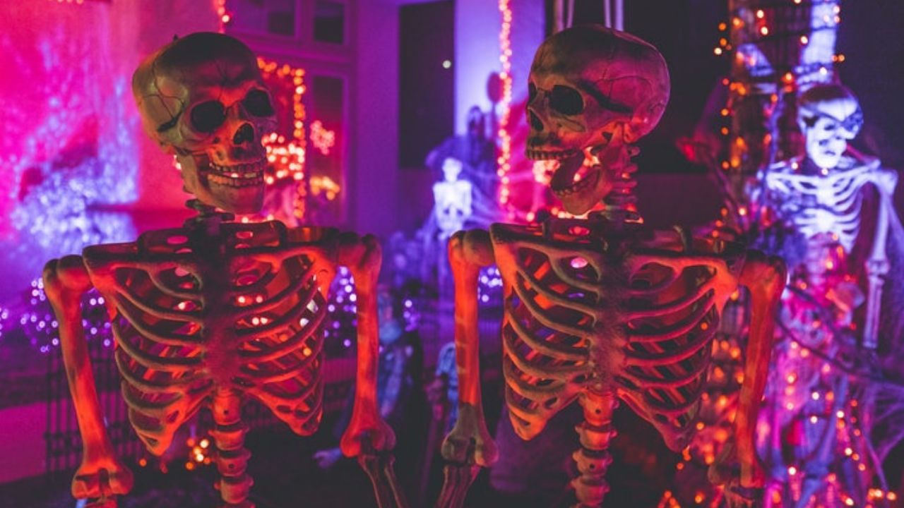 skeletons at a party