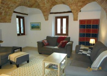 a restored house in abruzzo, living room