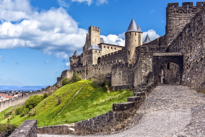 A castle in Carcassonne, France