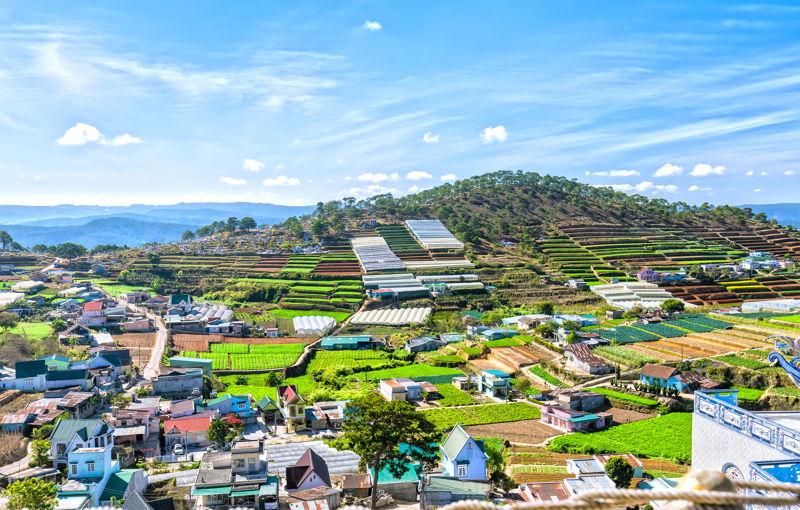 Da Lat, Vietnam country landscape