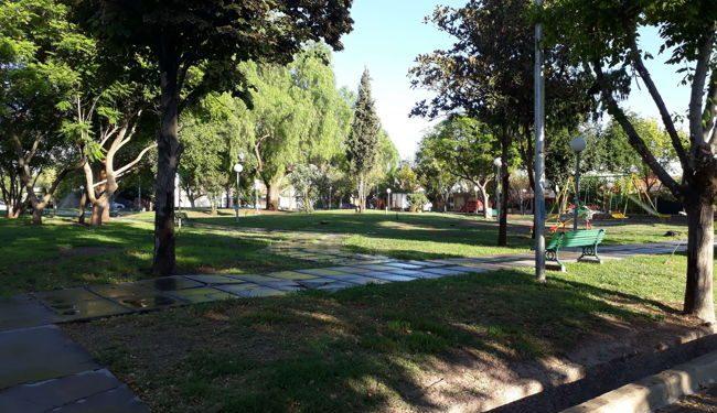 A park in Dorrego, Argentina