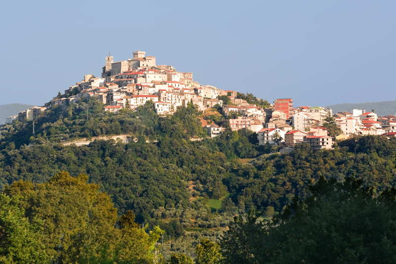 mountain town of casoli in abruzzo