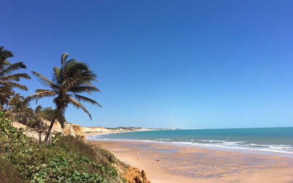 a quiet beach in Fortaleza, Brazil