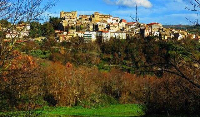 Zungoli Italy, view of the town