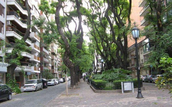 A sidewalk in Palermo, Argentina