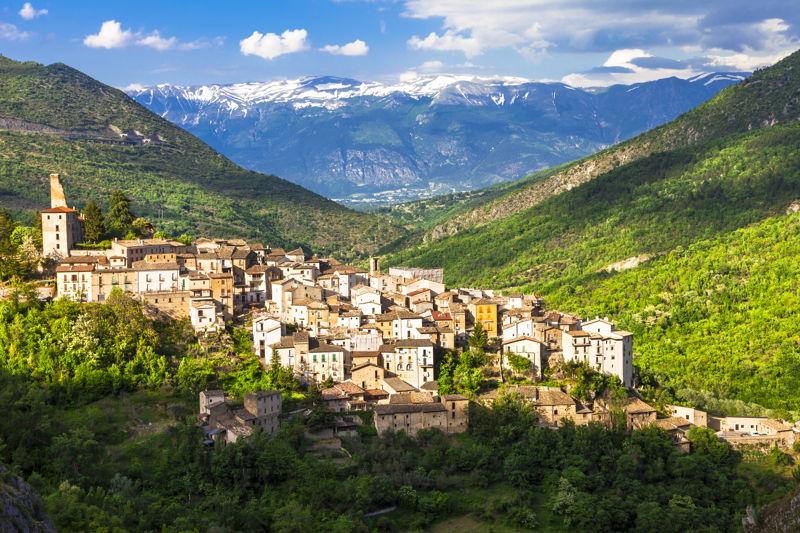 The Abruzzo landscape