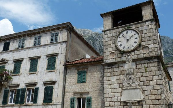 Old clock tower in Kotor