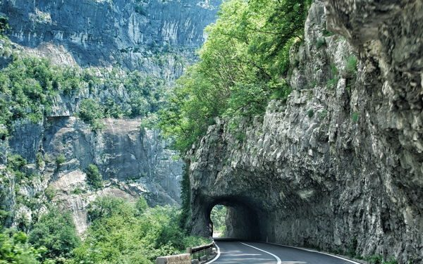 A mountain road in Montenegro