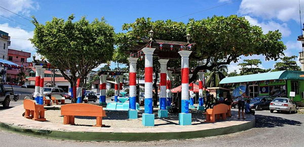Colorful square in San Ignacio