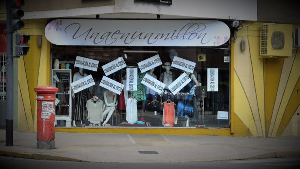 A business closing down in Palermo, Argentina