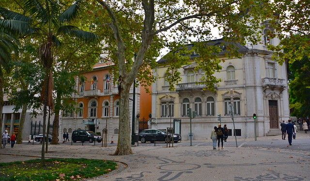 The lucurious liberdade buildings in Lisbon, Portugal