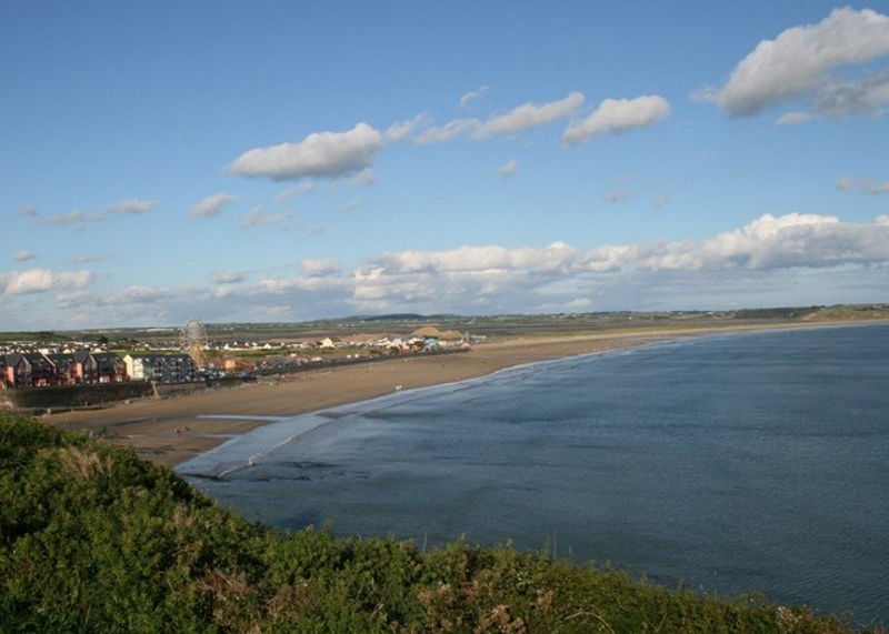 Tramore bay and beach, Ireland