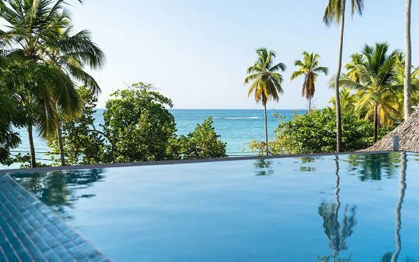 View from swimming pool in the Dominican Republic