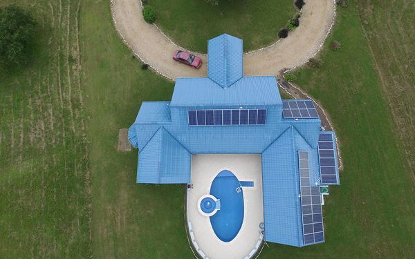 casa del rio aerial view, eco-friendly home