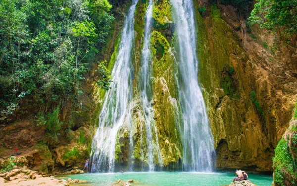 A waterfall in Dominican Republic, Caribbean