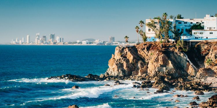 The Mazatlan coast Mexico