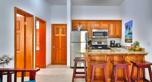 view of a kitchen at the grand baymen