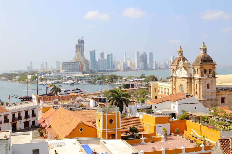 cartagena colombia harbour and city view