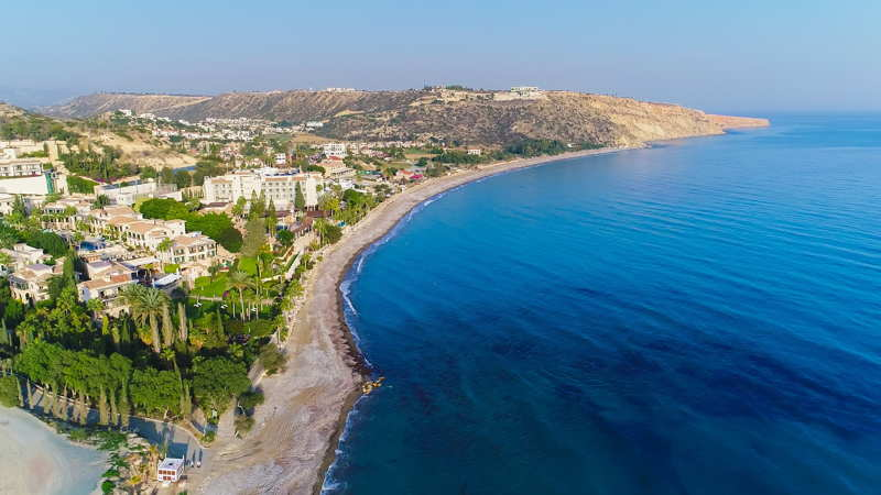 cyprus aerial view of bay